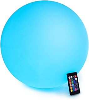 LOFTEK LED Light Ball : 16-inch RGB Colors Light Sphere with Remote Control, Cordless Floating Pool Lights, IP68 Waterproof and Rechargeable Battery, Sensory Toys for Kids, Home, Garden, Party Decor