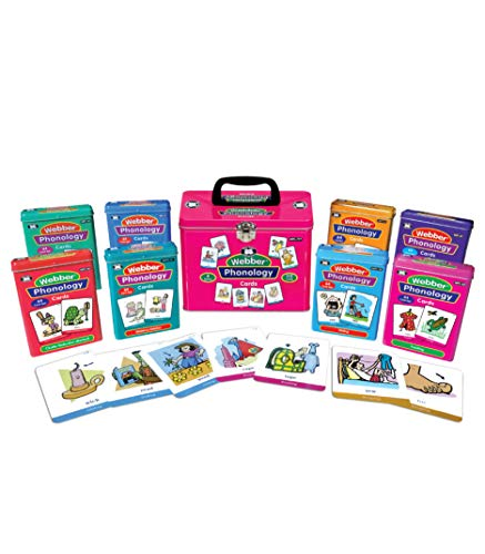 Super Duper Publications | Webber Illustrated Phonology Eight Fun Decks Combo | Communication and Language Processing Skills Flash Cards | Educational Learning Materials for Children