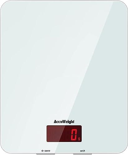 ACCUWEIGHT 201 Balance de Cuisine Électronique Balance Multifonctionnelle Numérique avec Écran LCD Rétro-éclairé Bala...