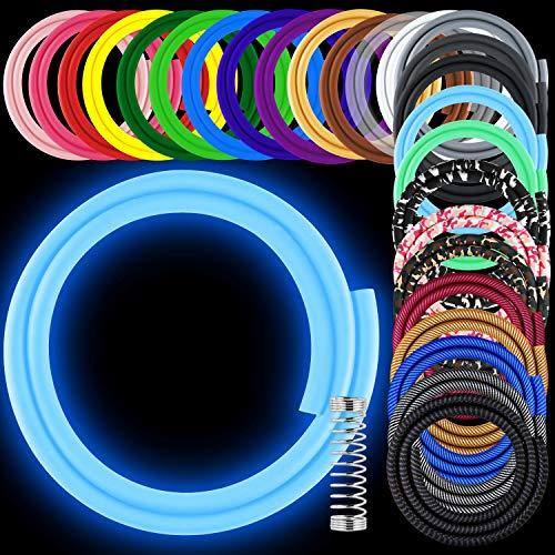Shisha Schlauch inkl. Knickschutzfeder - 150cm Anti-Schmutz soft-touch Silikonschlauch Matt - universal passend für jedes Shisha Mundstück - Riesige Auswahl in 26 Farben & Mustern - Shisha Zubehör