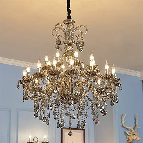 Dagea Candelabro de la Villa en el Hueco de la Escalera del Pasillo lámparas de pie ático lámpara de salón Europea Dormitorio Restaurante lámpara de Cristal, 8 + 4 (155 cm de