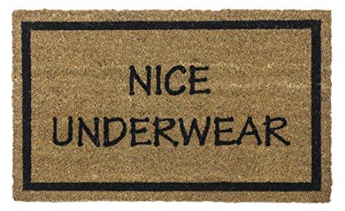 Entryways Non Slip Coir Doormat, 17-Inch by 28-Inch, Nice Underwear