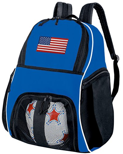 Broad Bay American Flag Soccer Ball Backpack USA Flag Volleyball Bag Travel Practice