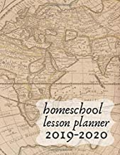Homeschool Lesson Planner 2019-2020: Record Keeper and Grade Book. Weekly Time Management for Moms. Large Book 8.5