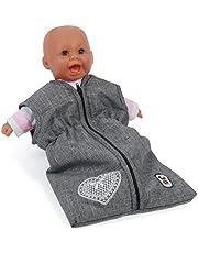 Bayer Chic 2000 792 76 poppenslaapzak voor babypuppen, jeans grijs