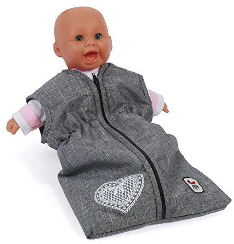 Bayer Chic 2000 792 76 Puppen-Schlafsack für Babypuppen, Jeans grau