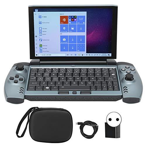 Weiyiroty Ordenador Portátil para Juegos, Mini Portátil de 7 Pulgadas con Juego de Mando, Ordenador Portátil con Pantalla táctil 16G+512G Teclado Retroiluminado 1920x1200 HD Versión 4G (110-240V)(yo)
