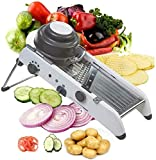 ADOV Mandoline Slicer Adjustable, 18 in 1 Professional Vegetable Cutter, Stainless Steel Multi-Functional