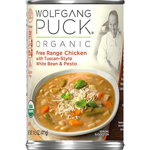 Wolfgang Puck Organic Free Range Chicken with Tuscan-Style White Bean & Pesto Soup, 14.5 oz. Can