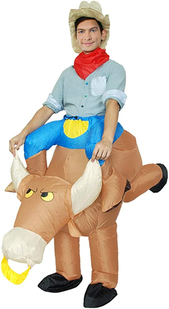 MoreToys Inflatable Cowboy Rider Halloween Costume Purchase Up 25% OFF Blow Fancy