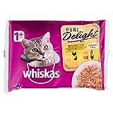 WHISKAS alimento para gatos en gelatina casserole aves bolsa 4 x 85 gr