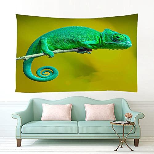 XXSCZ Tapiz para Pared, camaleón Hippie Mandala de Pared Tapiz Estampado Decoración de la Naturaleza del Hogar para Grande Picnic Mantel 150x130cm