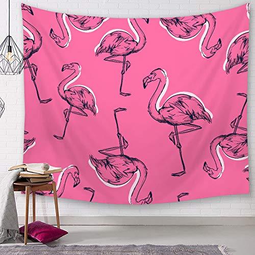 Tapiz De Pared Colgante,Animal Bohemio Flamingo Colgantes Para Dormitorio Salón Dormitorio Dormitorio Divisor Picnic Mantel Mat Toalla De Playa Colorida Decoración De Pared Art Gran Tapiz,150*150Cm.