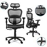 Komene Ergonomic Office Desk Chair Adjustable Headrest 3D Flip-up Armrests Seat Height Ergonomic Computer Chair,Executive, Drafting, Gaming or Office Chair (Black)
