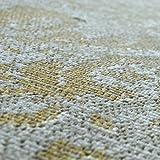 Paco Home In- & Outdoor Teppich Modern Shabby Chic Stil Terrassen Teppich Gelb, Grösse:60x100 cm - 3