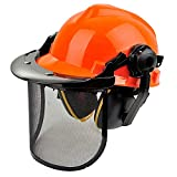 GXLX Casco Forestal de Seguridad con Protector Proteccion Auditiva Sthill Motosierras Antiruido