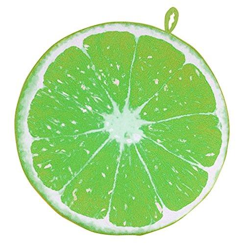 Vococal® Fruit Ronde Chaise de Bureau Retour Coussin de Soutien Canapé Coussin D'Citron