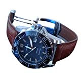 Whatswatch Parnis Black dial Sapphire Glass Ceramic Bezel Water Resistant Mens Watch PA-01175