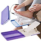 Burwells Folding Pedicure Footrest Feet Rest Angled Foot Stand With LED Light Folds Flat For Painting Varnishing Cutting Trimming Filing Toenails Toe Nails