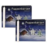 2er Pack Puppenkerzen weiß ca. 7 x 65 mm (2 x 40 Stück), Puppenlichter, Miniaturkerzen,...