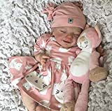 Chang Realistic Reborn Baby Dolls Full Body Silicone,22 Inch Lifelike Waterproof Baby Dolls Anatomically Correct Newborn Baby Dolls 3+,Girls(55cm)