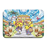 Tappetino per interni in gomma con puzzle, motivo Pokemon di grandi dimensioni, tappetino da bagno, tappetino da ingresso per interni