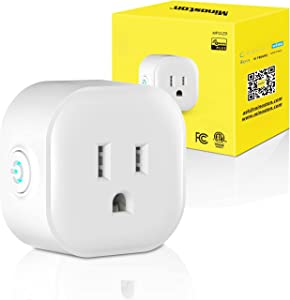 Z-Wave Plug Dimmer Smart Plug-in Outlet Built-in Repeater Range Extender, Z-Wave Hub Required, Alexa and Google Assistant Compatible, 200W(MP21ZD)