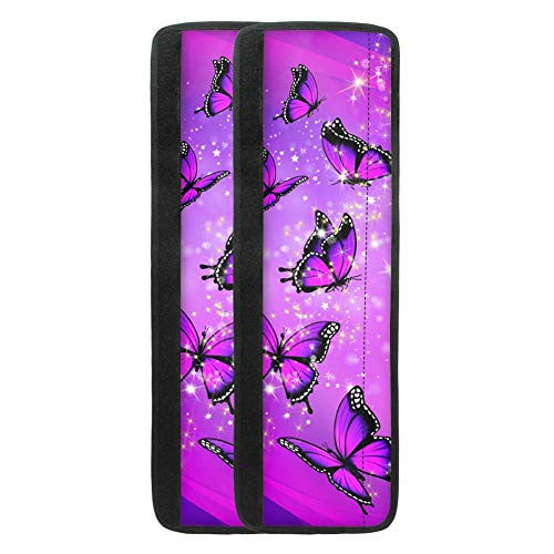chaqlin Purple Butterfly 2 PCS Refrigerator Door Handle Cover Kitchen Appliance Decor Handles Anti-Skid Protector Fridge, Oven Keep Off Fingerprints,Food Stains