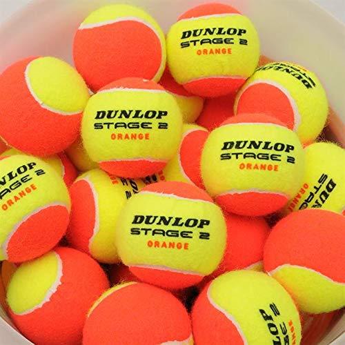 Dunlop orange Stage II 12 Bälle 50% druckreduziert Methodikbälle im Polybeutel