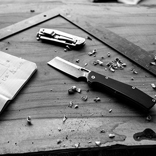 Gerber Flatiron - Folding Cleaver Pocket Knife - Aluminum Grey Handle [30-001494]