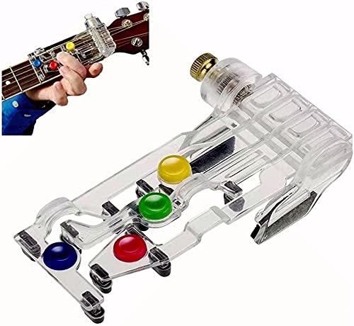 Guitarra principiante, herramientas de aprendizaje asistido de acorde de una sola llave, herramienta de ayuda para la práctica de guitarra para adultos y niños entrenador principiantes