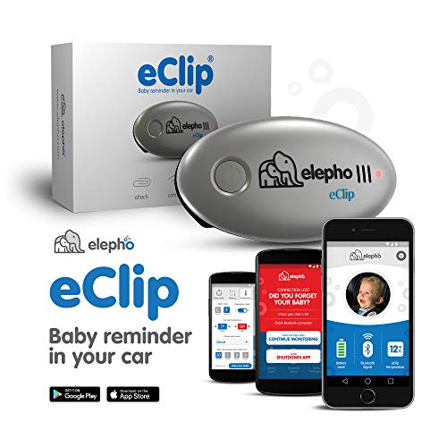 Elepho eClip Baby Reminder For Your Car – Attaches to car seat,...