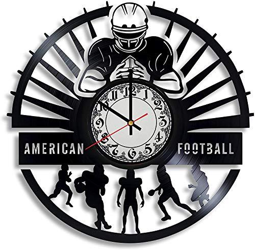 American Football Vinyl Wanduhr, Vinyl Schallplattenuhr Wandkunst Einzigartige Raumdekorationen Handgemachtes Geschenk