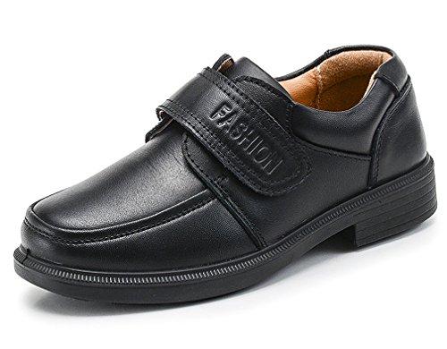 Jungen Schnürhalbschuhe Kinder Anzug Schuhe Bequem Oxfords rutschfest Lederschuhe Schwarz
