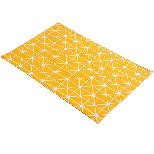 Family Needs 5PCS / LOT Cotton Linen Art Secondary Coffee Table Eettafel Servet Insulation Westward Eten Foto van de Mat Achtergrond Doek (Color : Yellow, Size : 45 × 30CM)