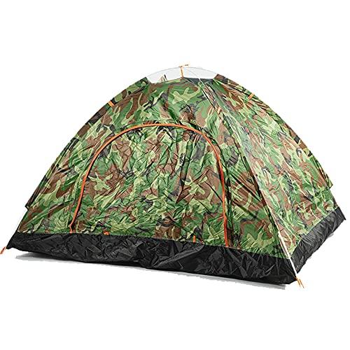 ZFRXIGN Tienda De Campaña Familiar Carpa para Acampar Al Aire Libre Equipo De Campamento A Prueba De Lluvia Conjunto Completo De Plegable Portátil para Interiores A Prueba De Lluvia(Color:Camuflaje)