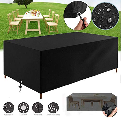 Garden Furniture Cover, 200X160X70cm Outdoor Patio Waterproof Table Oxford Fabric Cover,Large Rectangular Duty Rip Proof for Garden Furniture Set