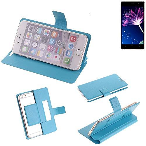 K-S-Trade® Flipcover Für Doogee X10 Schutz Hülle Schutzhülle Flip Cover Handy Case Smartphone Handyhülle Blau
