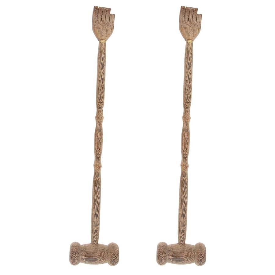 宴会競争生活B Blesiya マッサージハンマー ハンマーノック ボディマッサージ クロー 木製 多機能 贈り物 2個入