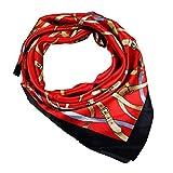 COMVIP Hombres La seda del verano de Protección Solar satén del cuello del cuadrado de la bufanda del pañuelo 60 * 60cm rojo