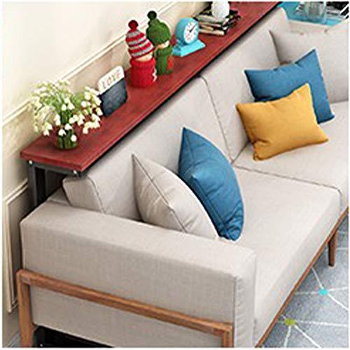 JINBAO Estante Trasero para Sofá Impermeable a Prueba de Moho Fácil de Limpiar Mesa de Almacenamiento Sala de Estar Cocina Dormitorio-marrón + Negro