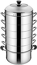 CPWJD Stainless Steel Steamer Household Energy-saving Not Odor Multi-layer Thick Steamer, Non-porous Steamed Rice Pot, Thr...