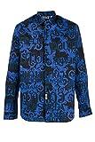 Versace Jeans Couture Camicia Camisa Casual, Negro (Negro Lz6), XX-Small (Talla del Fabricante: 44) para Hombre