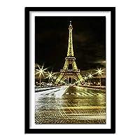 GHXCTKU DIY 5D ダイヤモンドペインティング フルドリル クロスステッチキットの絵画 ダイヤモンド塗装ート 全面貼5D モザイクアート ハンドメイド DIY 手芸キット パリの夜景 30*40cm