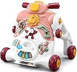 WWJL Juguetes para BebéS, Andador para BebéS, Cochecito Multifuncional Y Divertido, 3 En 1, Andador para NiñOs, Rompecabezas, Andador para BebéS, Regalo, Juguetes para BebéS 6 Meses MáS,Rosado