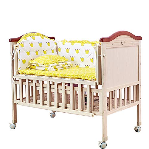 Review Infant products YXGH@ Swinging Crib Shaker Unpainted Solid Wood Bed Cradle Bed Baby Bed Multifunctional Newborn Rocking Chair