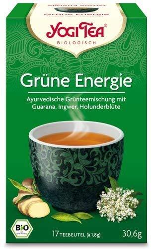 Yogi Tee, Grüne Energie Ayurvedische Teemischung, Biotee, lang anhaltend energetisierend, 17 Teebeutel, 30,6g