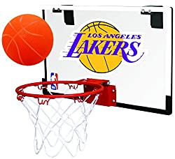 in budget affordable Polycarbonate (PC) Los Angeles Lakers Mini Basketball Hoop Set Rawlings NBA Game