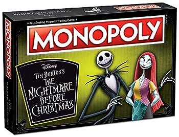 Monopoly Disney Nightmare Before Christmas Board Game   Collectible Monopoly Tim Burton Nightmare Before Christmas Movie   Collectible Monopoly Tokens