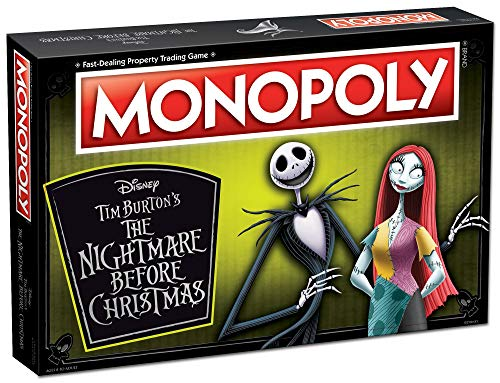 Monopoly Disney Nightmare Before Christmas Board Game | Collectible Monopoly Tim Burton Nightmare Before Christmas Movie | Collectible Monopoly Tokens